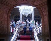 Dolmabahce Sarayi Palace Grand Staircase and Chandelier